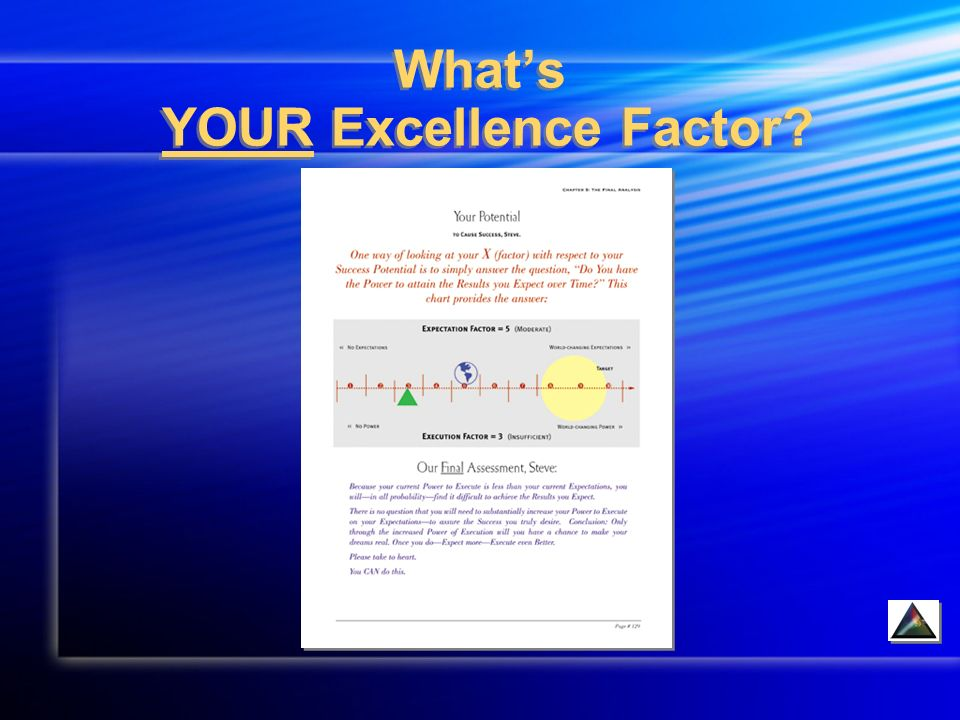 Whats YOUR Excellence Factor