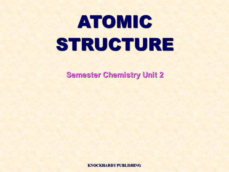 ATOMICSTRUCTURE Semester Chemistry Unit 2 KNOCKHARDY PUBLISHING