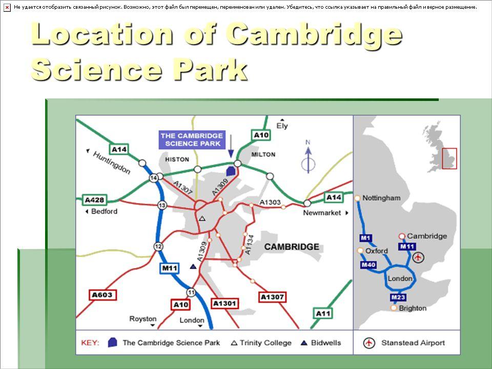Location of Cambridge Science Park