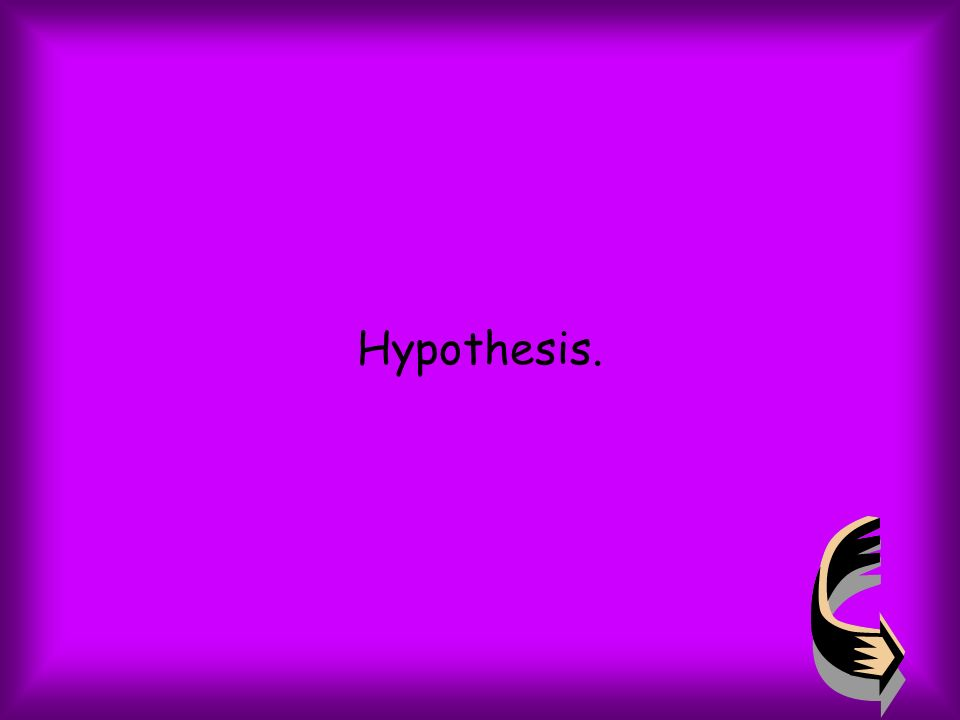 What part of the scientific method is used to conclude the experiment?