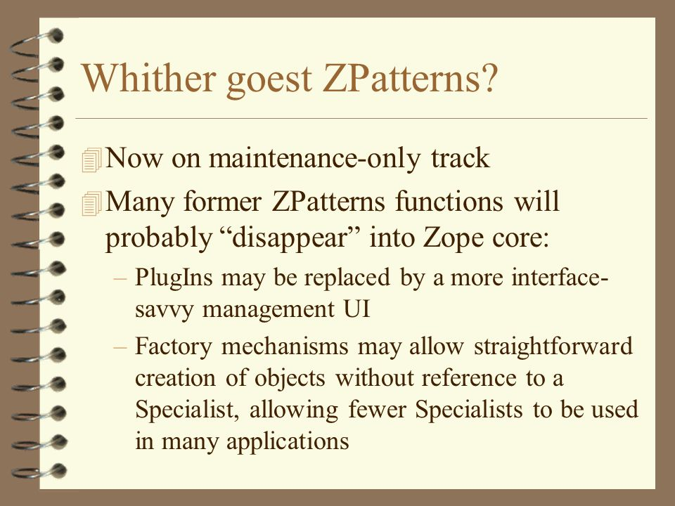 Whither goest ZPatterns.