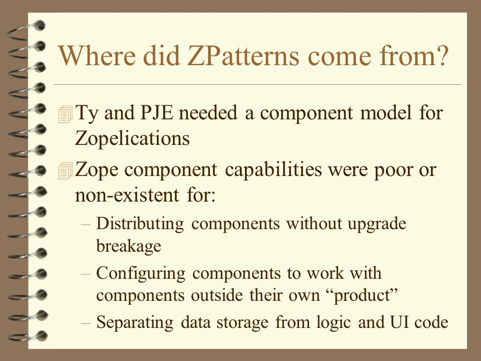 Where did ZPatterns come from.