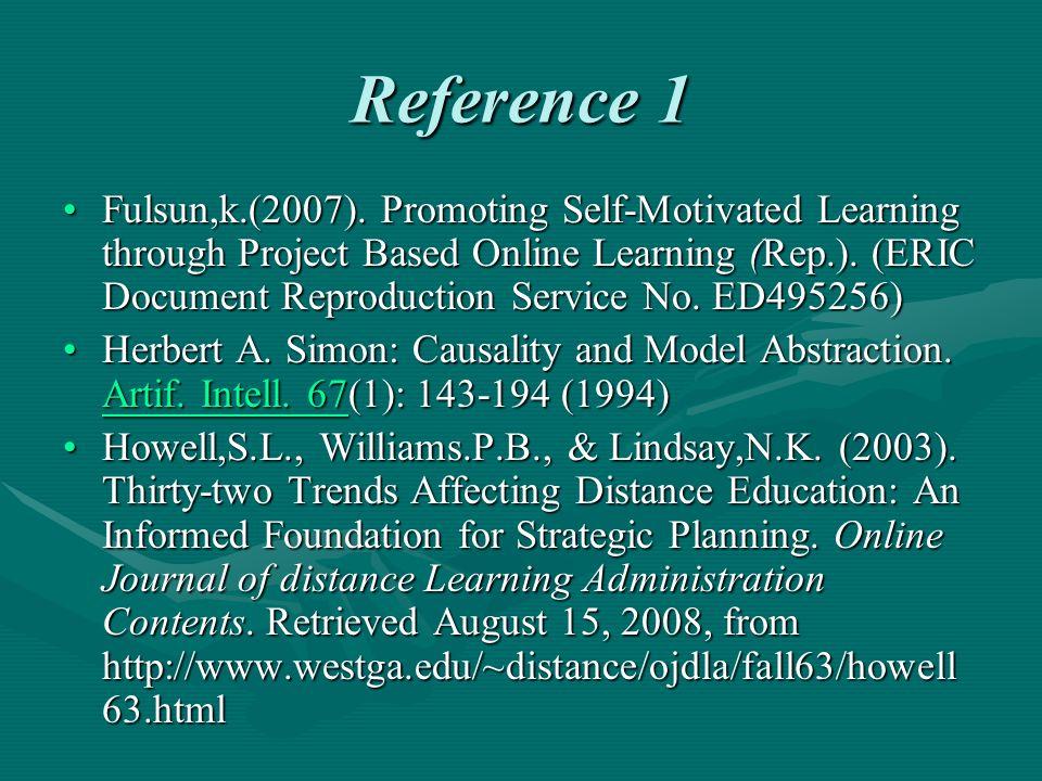 Reference 1 Fulsun,k.(2007).