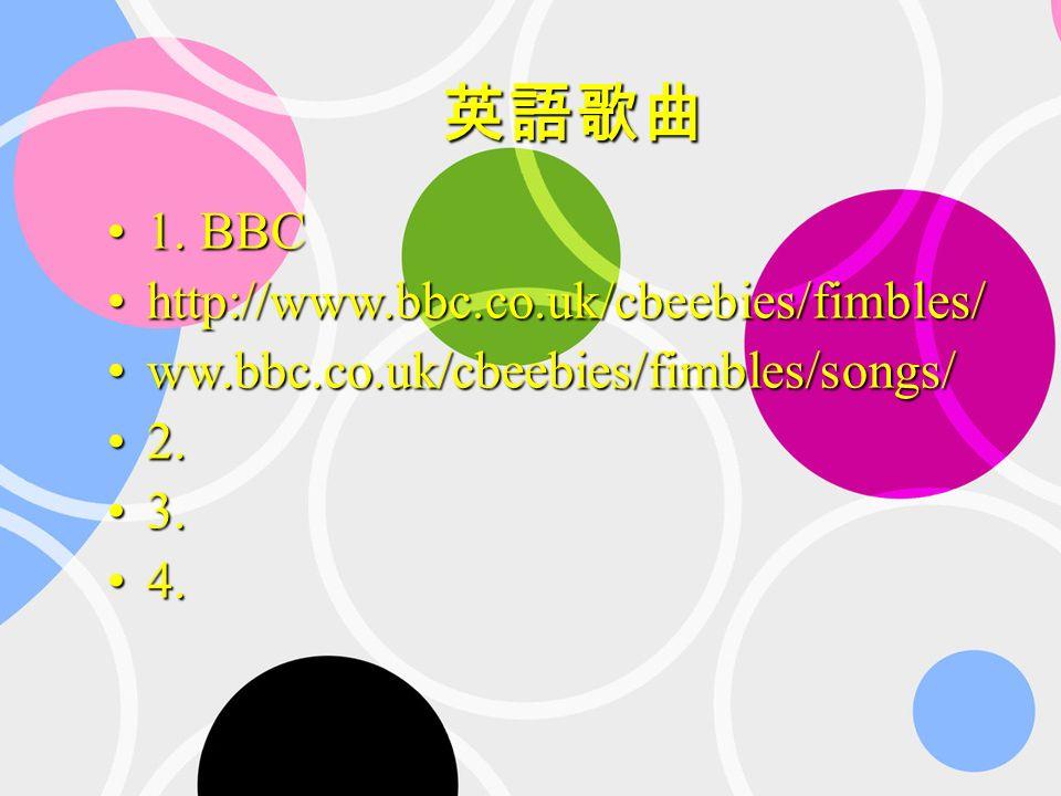 1. BBC1. BBC http://www.bbc.co.uk/cbeebies/fimbles/http://www.bbc.co.uk/cbeebies/fimbles/ ww.bbc.co.uk/cbeebies/fimbles/songs/ww.bbc.co.uk/cbeebies/fi