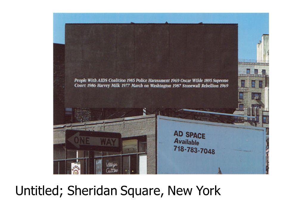 Untitled; Sheridan Square, New York