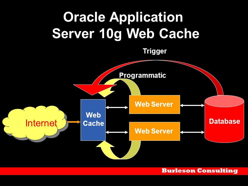 Oracle Application Server 10g Web Cache Internet Web Cache Web Server Database Trigger Programmatic