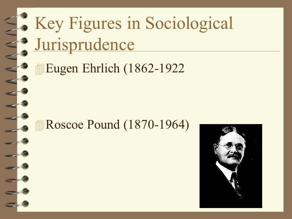 Key Figures in Sociological Jurisprudence 4 Eugen Ehrlich (1862-1922 4 Roscoe Pound (1870-1964)