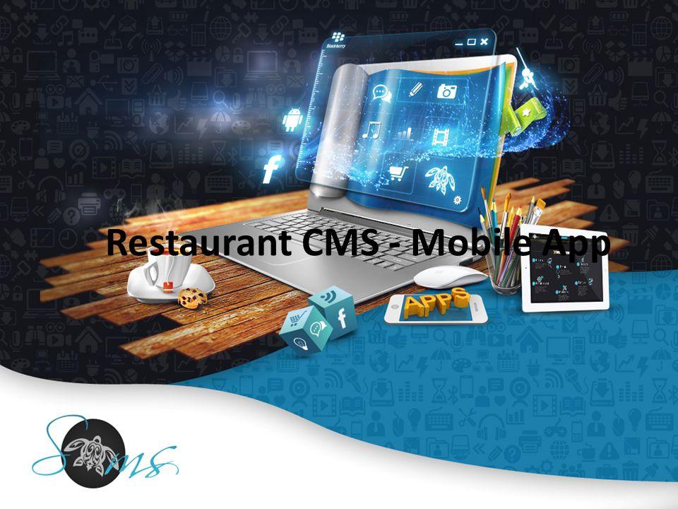 Restaurant CMS - Mobile App