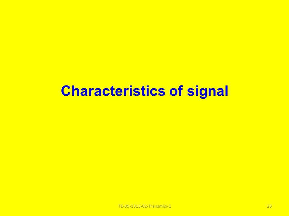 Characteristics of signal TE-09-1313-02-Transmisi-123