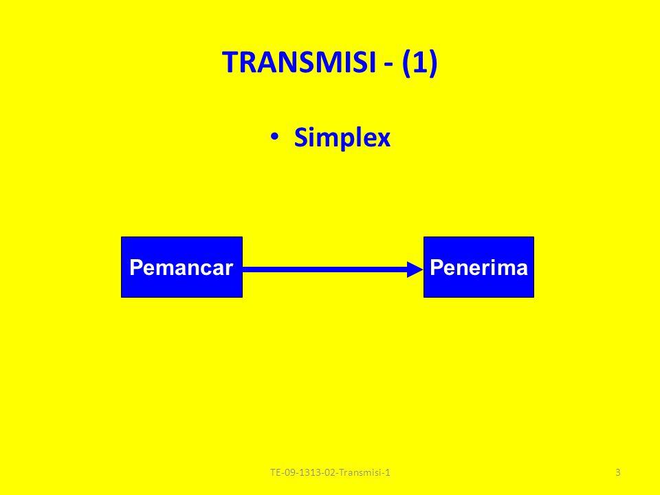TRANSMISI - (1) Simplex PenerimaPemancar 3TE-09-1313-02-Transmisi-1