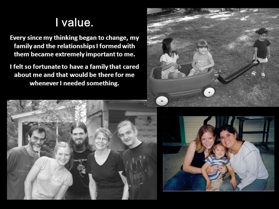 I value.