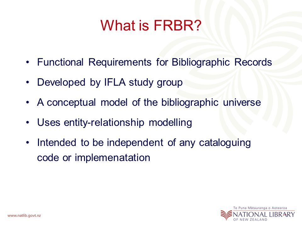 What is FRBR.
