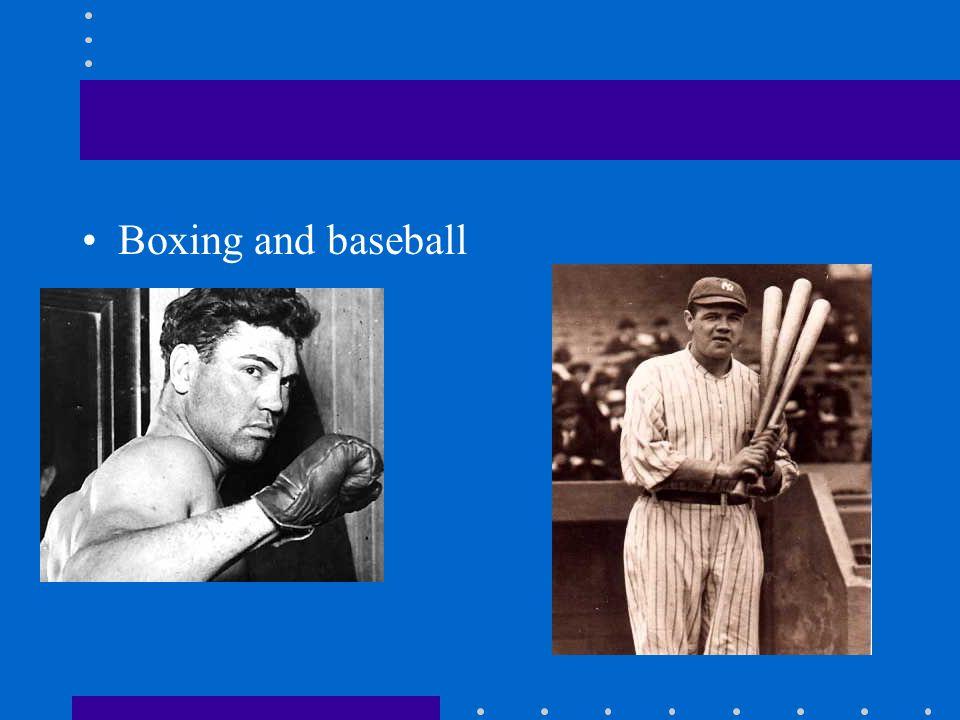 Boxing and baseball