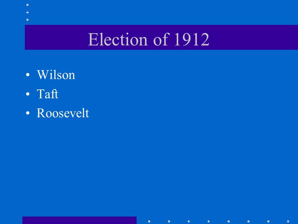 Election of 1912 Wilson Taft Roosevelt