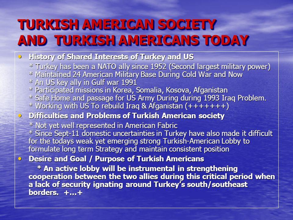2000 SONRASI - SORUNLAR Amerikadaki Turklerin sorunlarını tesbit etmek amacı ile 2005 Mayıs Ayında yapılan Ankete katılanları Amerikadaki Turklerin so