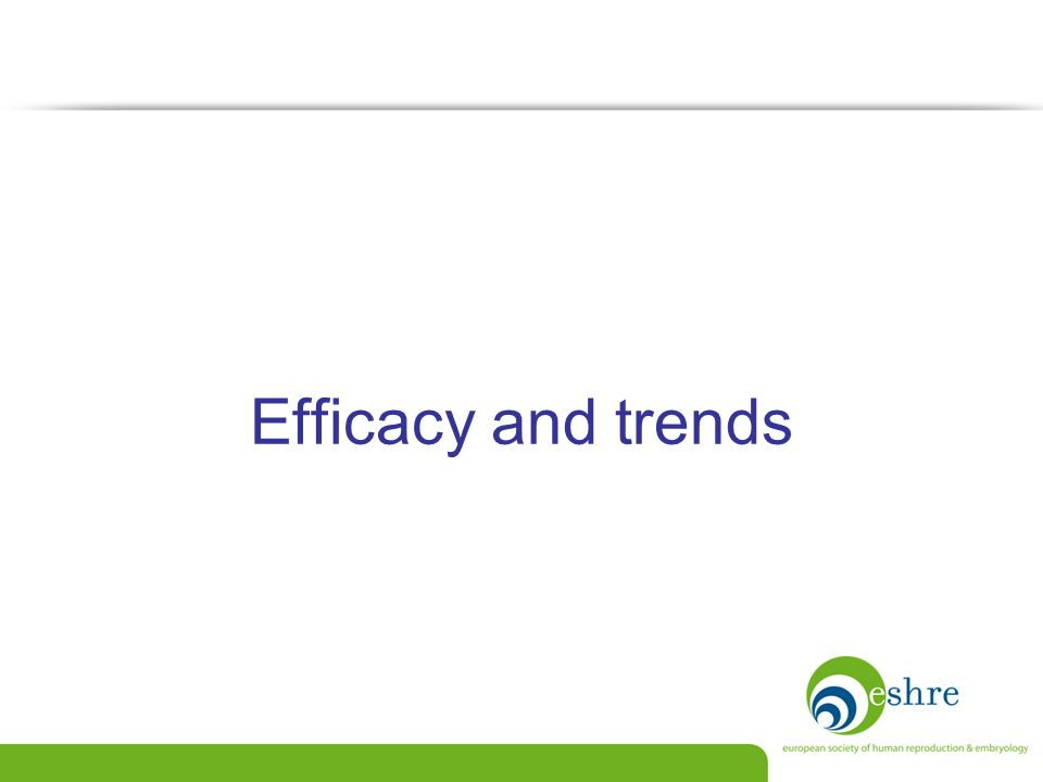 Efficacy and trends