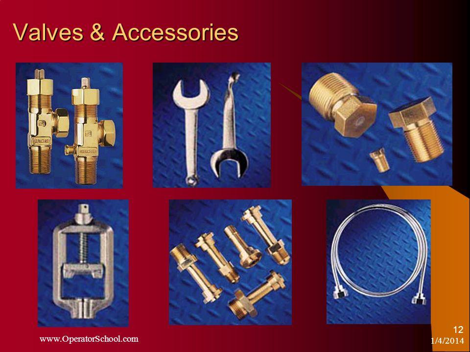 1/4/2014 www.OperatorSchool.com 12 Valves & Accessories