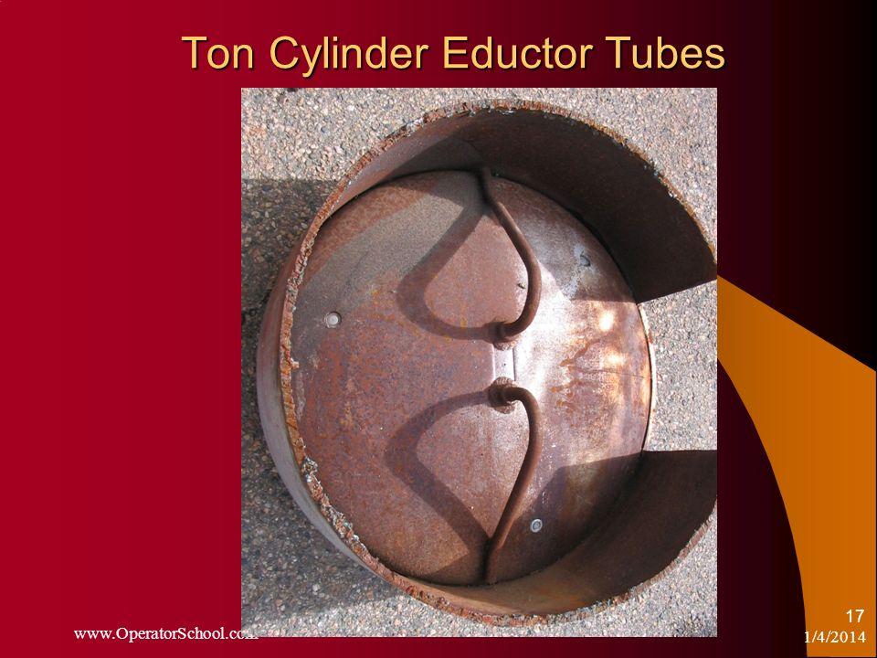 Ton Cylinder Eductor Tubes 1/4/2014 www.OperatorSchool.com 17