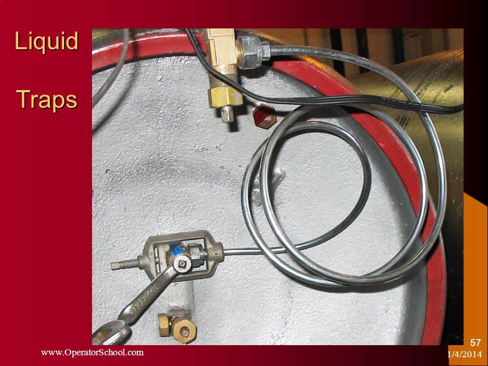 Liquid Traps 1/4/2014 www.OperatorSchool.com 57