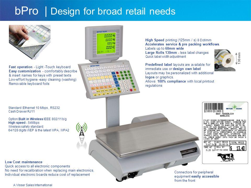 A Visser Sales International bPro | Design for broad retail needs bPro - U2 Upper Keypad Fresh Service Counter Fruit & vegetables / Seafood Food Prepa