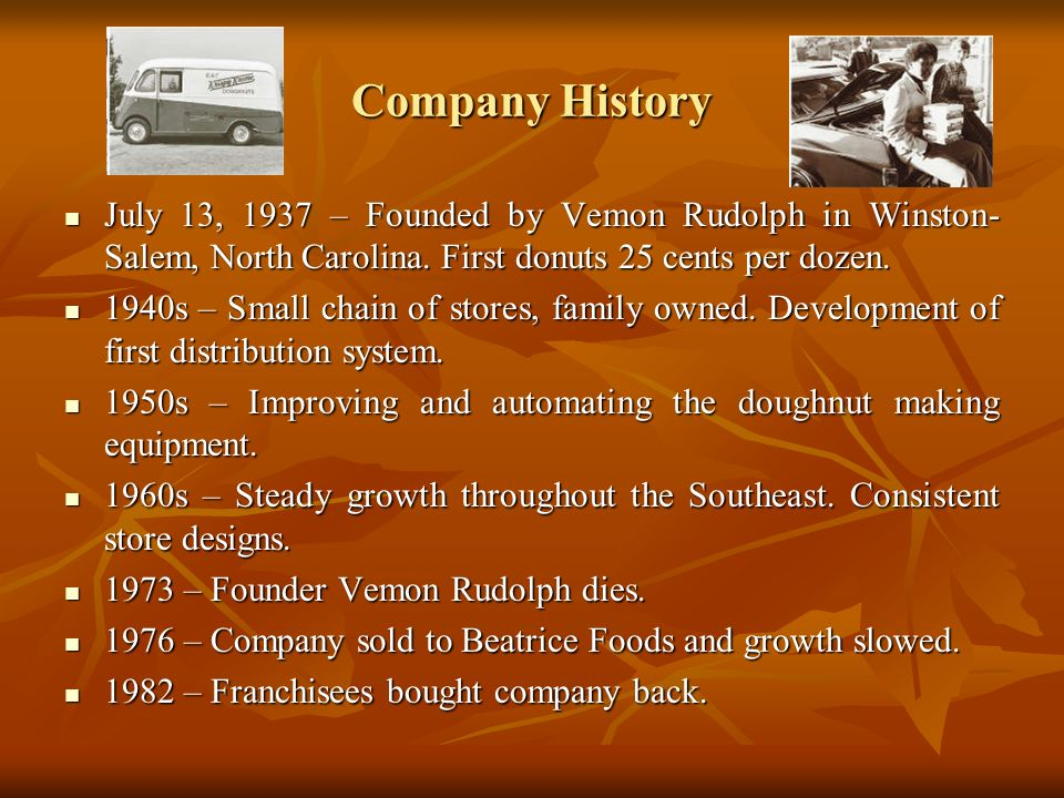 Company History (cont.) 1996 - Expands outside the Southeast region, first store in New York.