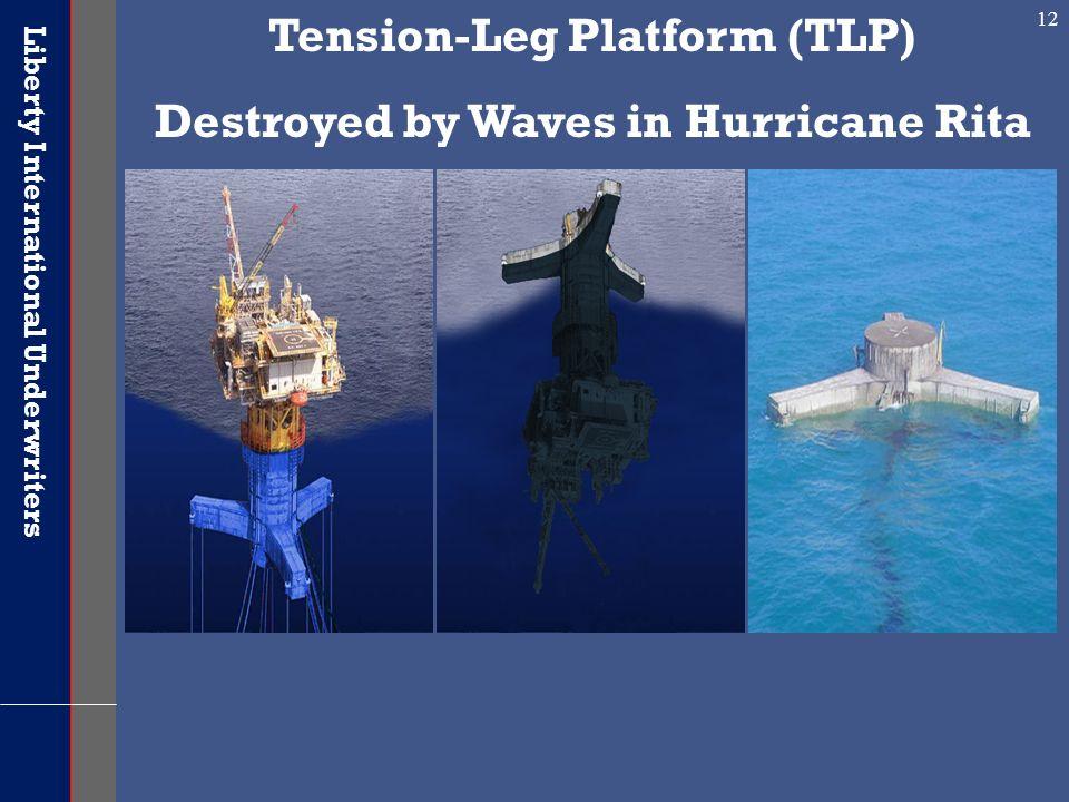 Liberty International Underwriters 12 Tension-Leg Platform (TLP) Destroyed by Waves in Hurricane Rita