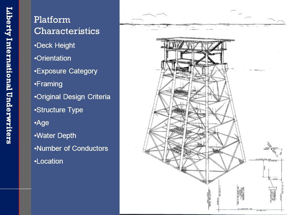 Liberty International Underwriters 17 Platform Characteristics Deck Height Orientation Exposure Category Framing Original Design Criteria Structure Ty