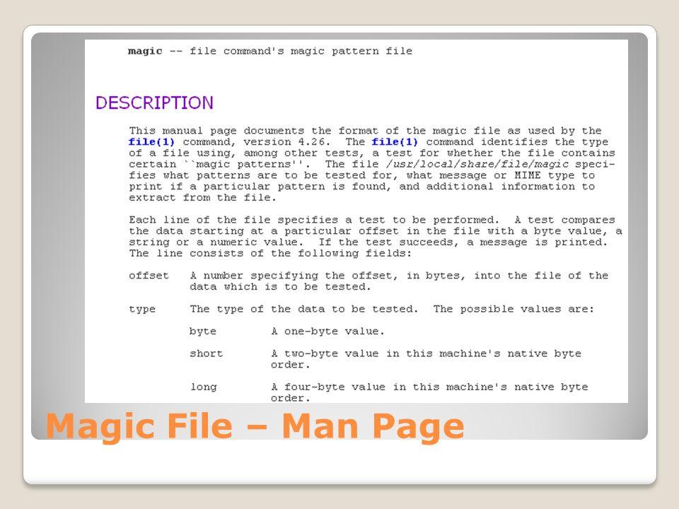 Magic File – Man Page