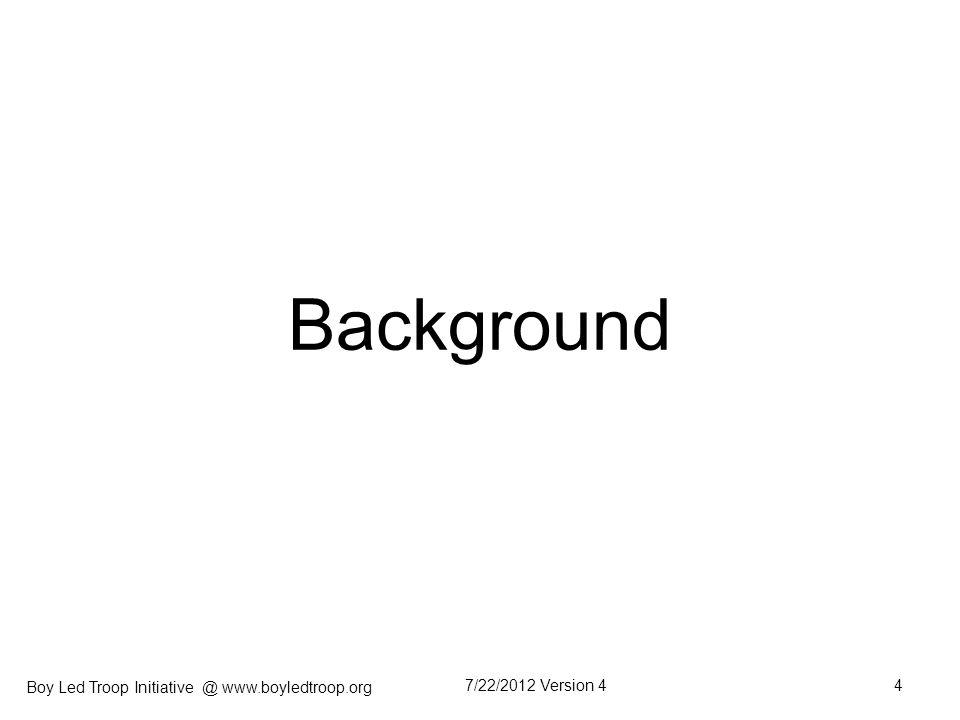 Boy Led Troop Initiative @ www.boyledtroop.org Critical Elements for Sustaining BLT 7/22/2012 Version 425