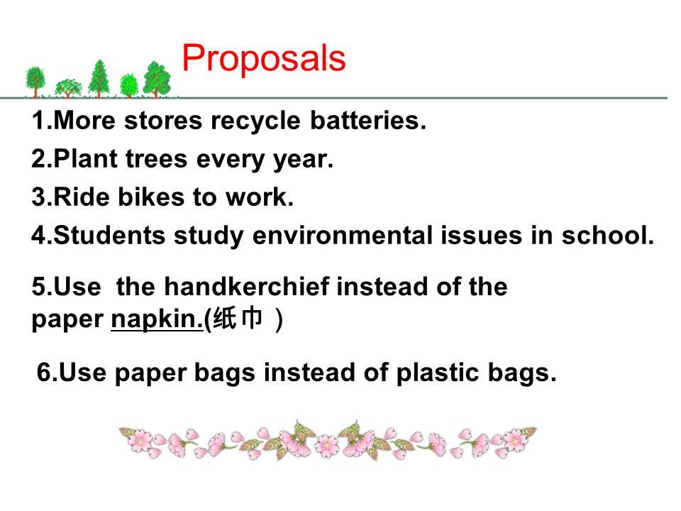 basket rubbish make lawsplant trees recycle batteries take bike