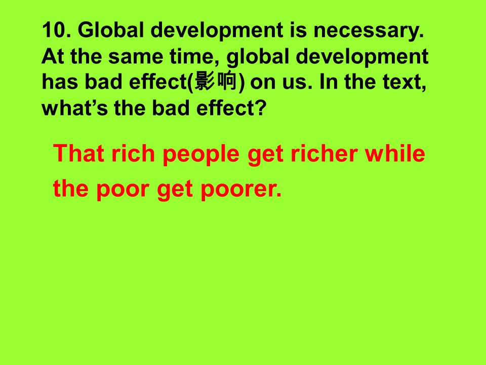 9. What other problems were talked about in the meeting? Poverty, war and violence. Para.3