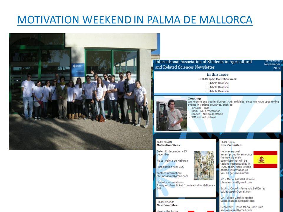 MOTIVATION WEEKEND IN PALMA DE MALLORCA