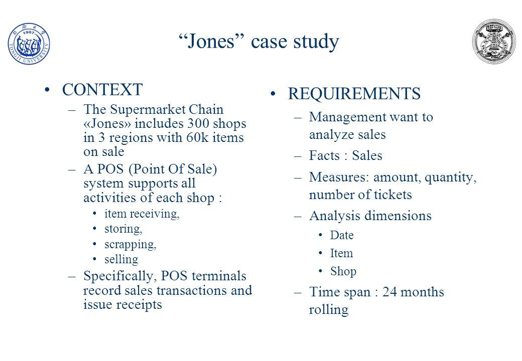 Level 1 (source data) «Jones» case study Ticket # 2002a23b11 Store #0021MI Item Des Price Qty Amount #190Pen35602 7.12 #69 Mat55010 5.50 #90Lib320001 32.00 TOTALE 44.62 Payment Fidelity P.