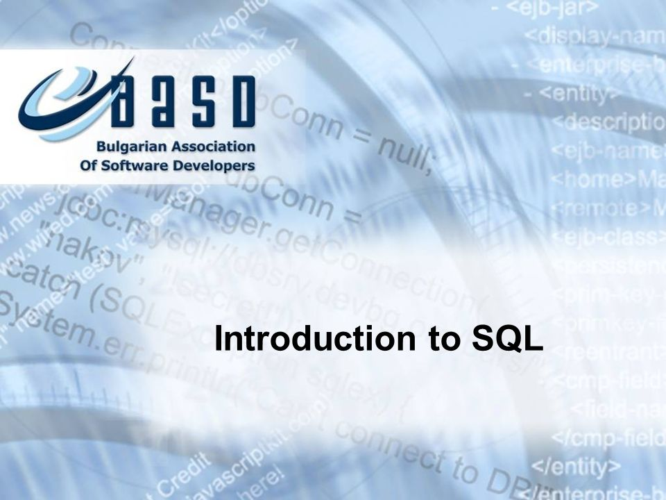 Contents 1.Relational Databases and Data Models 2.SQL 3.The HR Database Schema in Oracle 4.Introducing SELECT Statement The WHERE Clause Sorting with ORDER BY Selecting Data From Multiple Tables