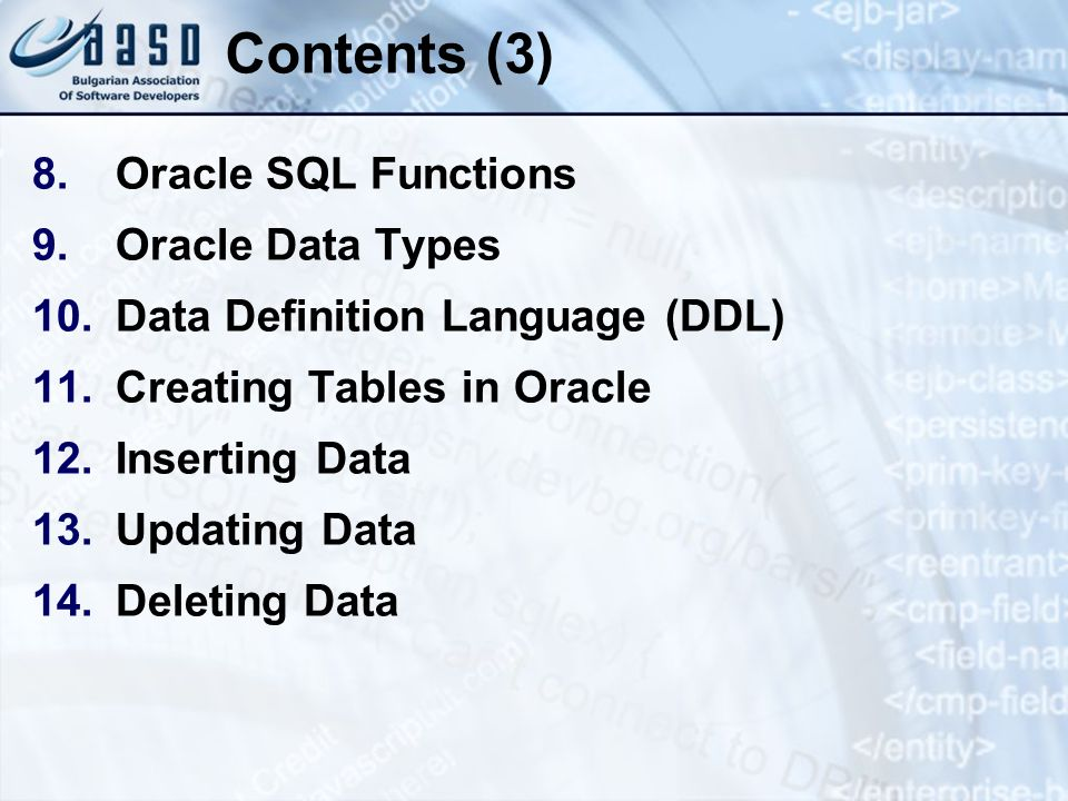 Problems (10) 42.Write SQL statements to insert in the USER table the names of all employees from the EMPLOYEES table.