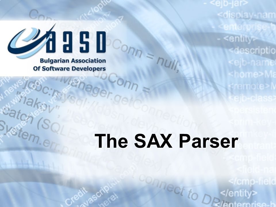 The SAX Parser