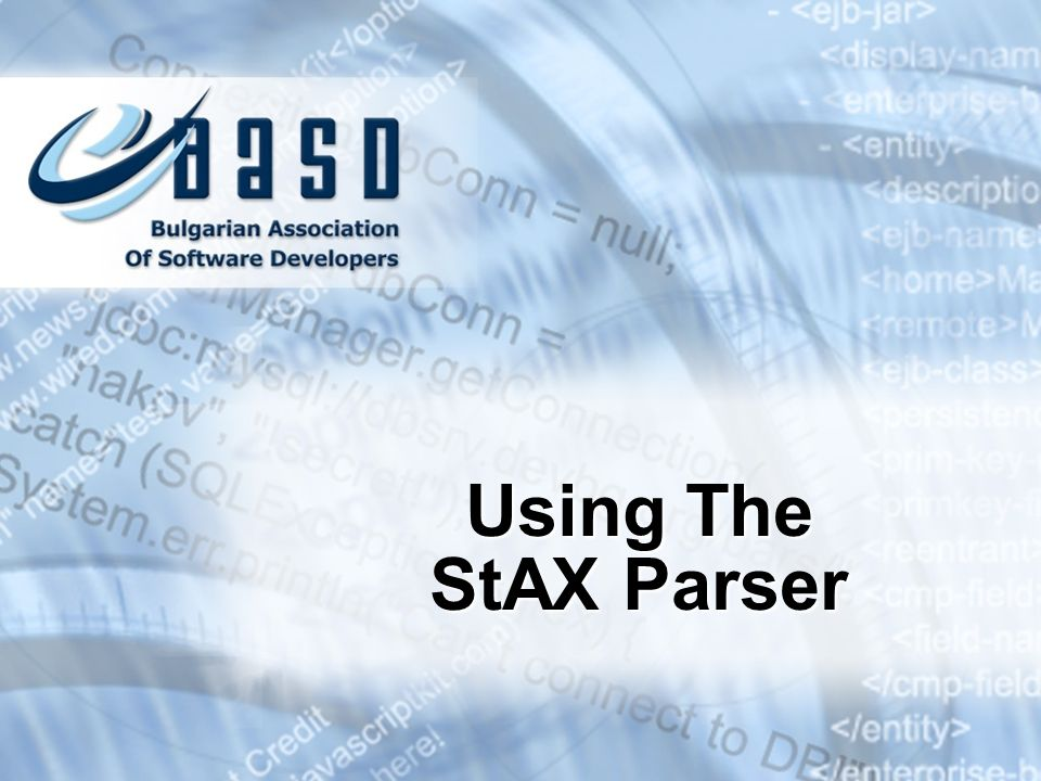 Using The StAX Parser