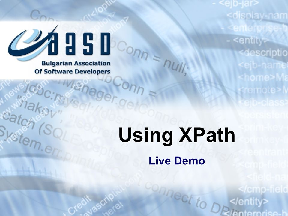 Using XPath Live Demo