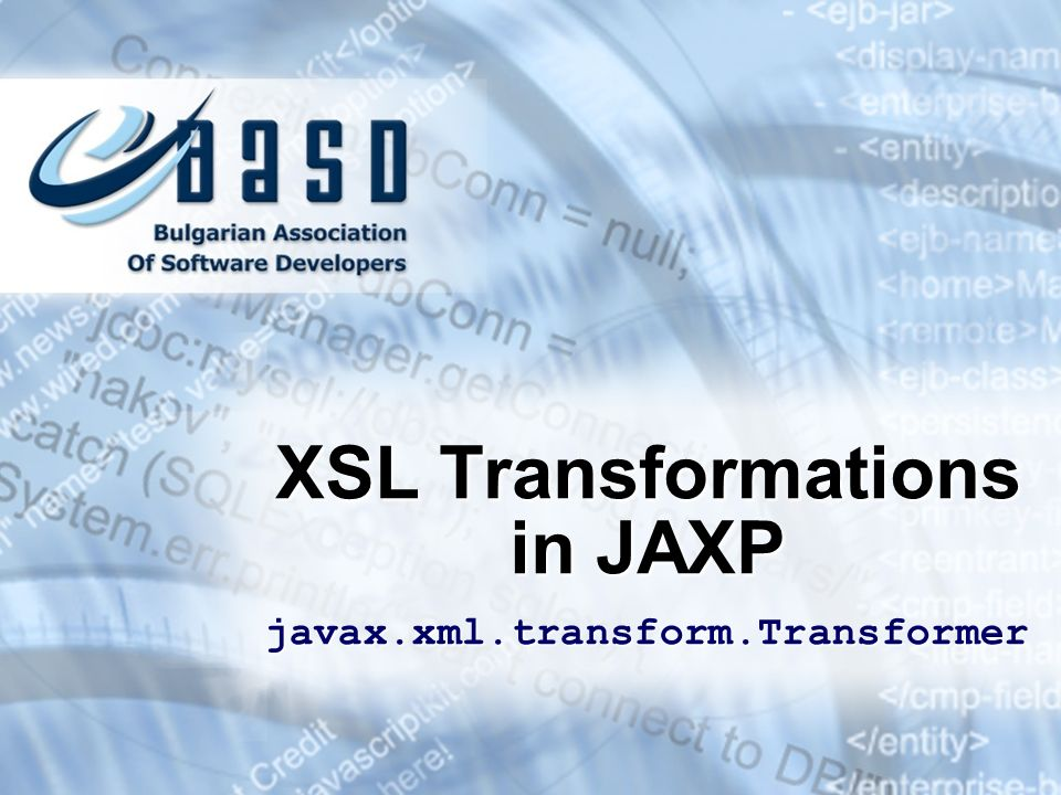 XSL Transformations in JAXP javax.xml.transform.Transformer