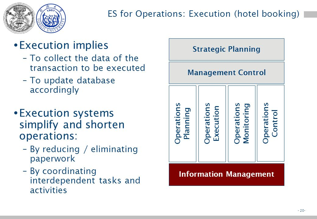- 19- ES for Operations: Planning (SAP)