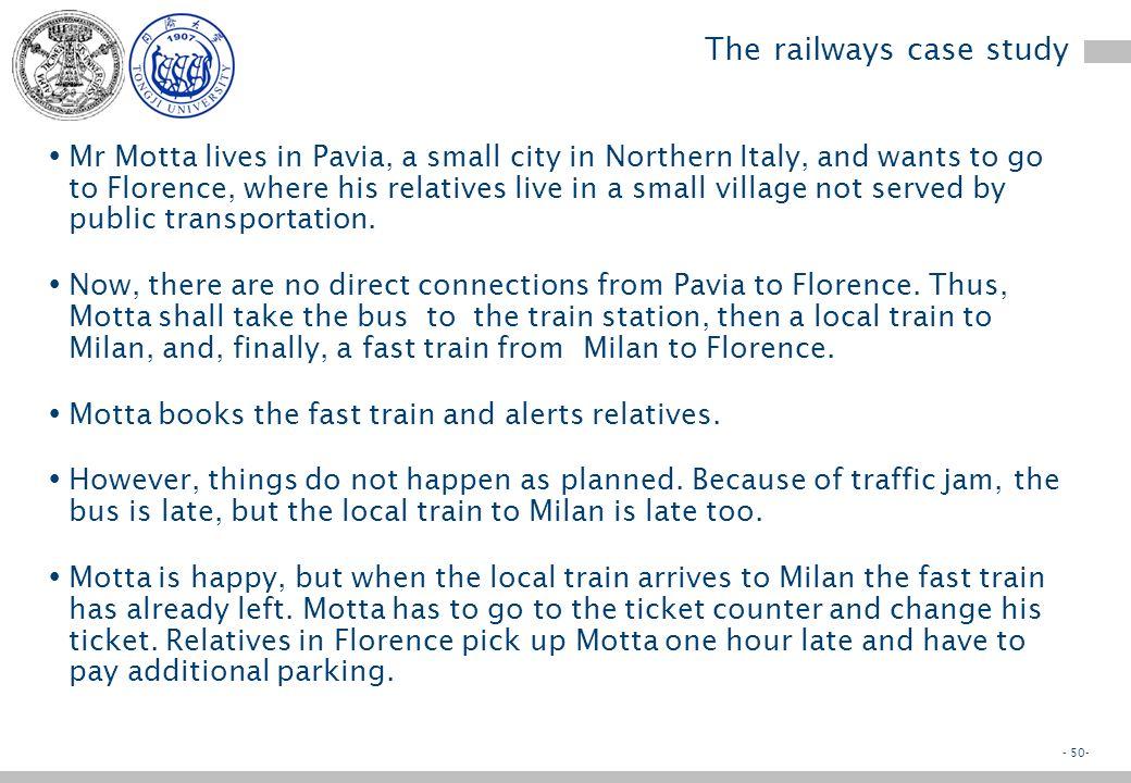 - 49- Appendix 1 Railways case study Enterprise Systems Foundations