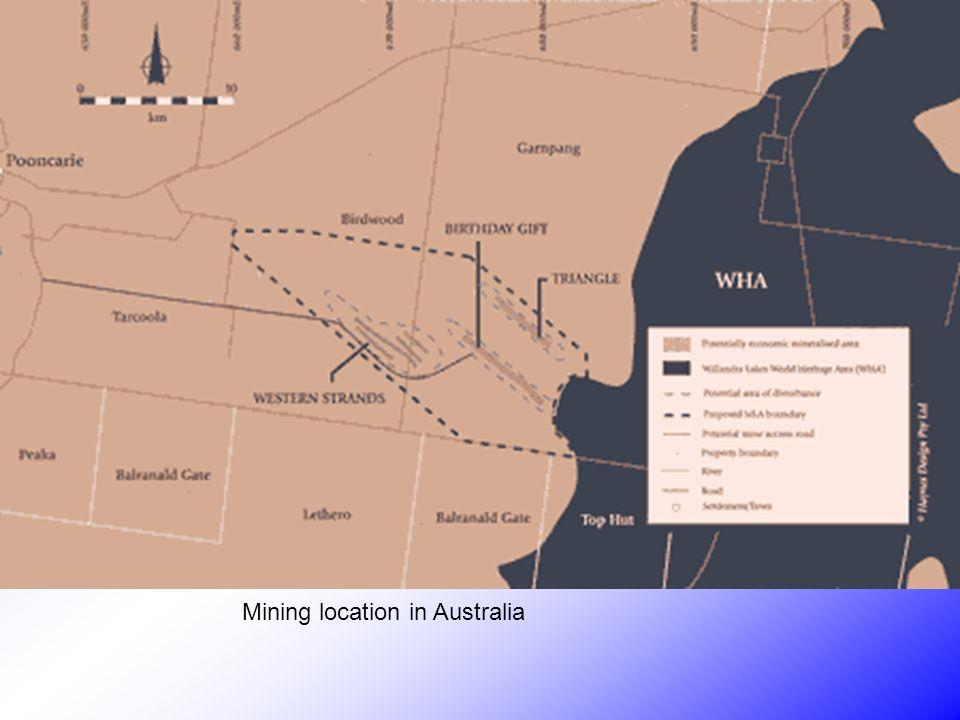 Mining location in Australia