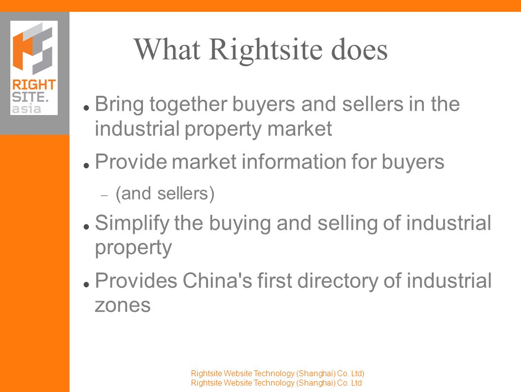 China s first international exchange for industrial property Rightsite Website Technology (Shanghai) Co.