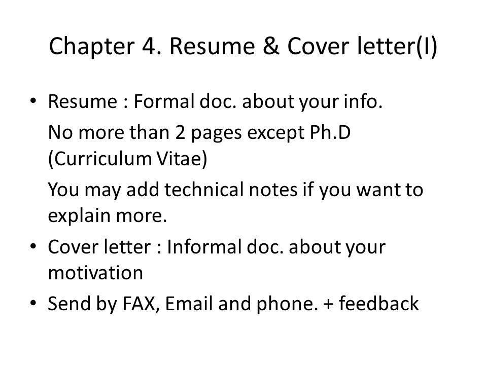 Chapter 4.Resume & Cover letter(II) Do All keywords in Job Desc.