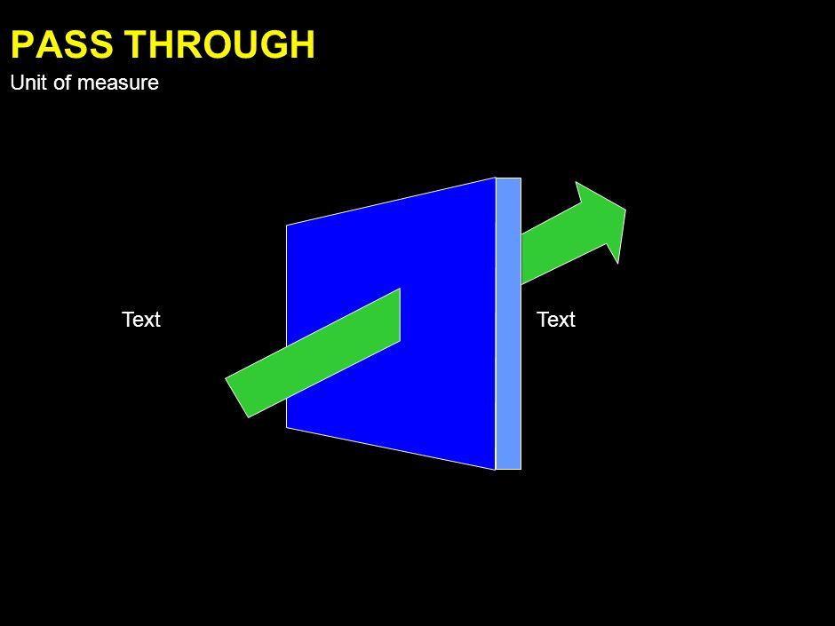 Text FLOW DOWN Unit of measure
