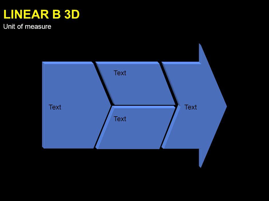 Text LINEAR A 3D Unit of measure