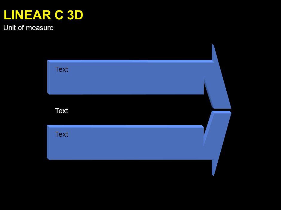 Text LINEAR B 3D Unit of measure
