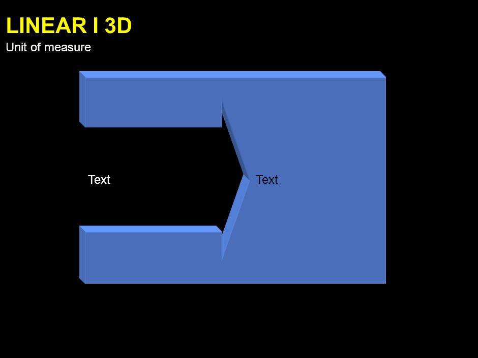 Text LINEAR G 3D Unit of measure