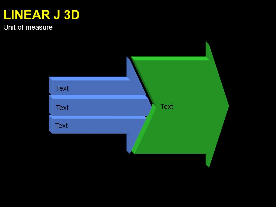 Text LINEAR I 3D Unit of measure