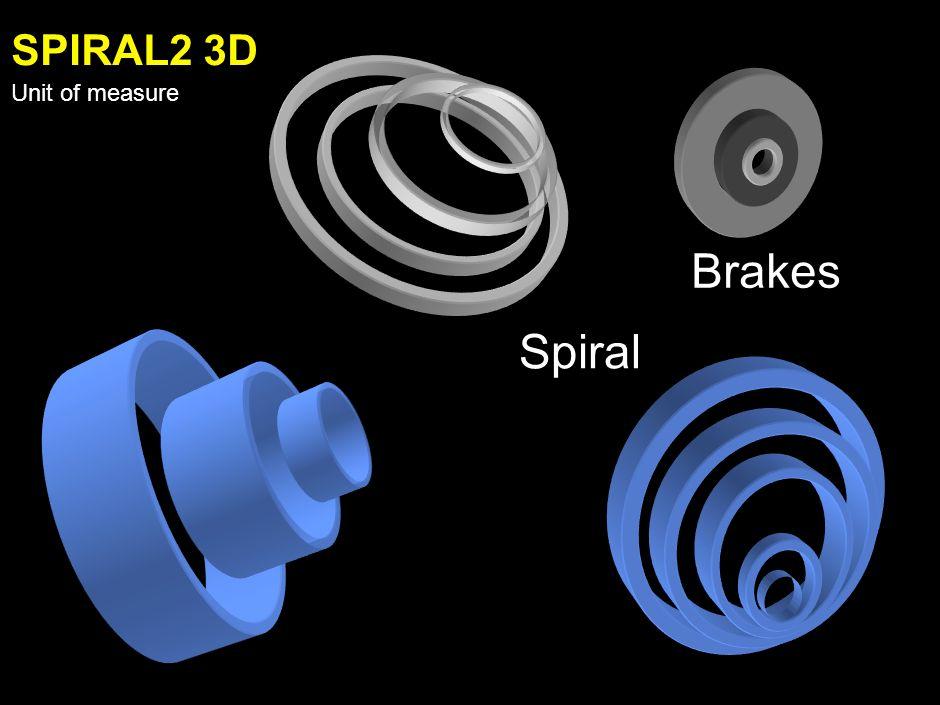 SPIRAL1 3D Unit of measure